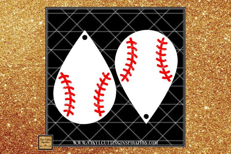 Baseball Earrings Template, Teardrop Earrings, faux Leather