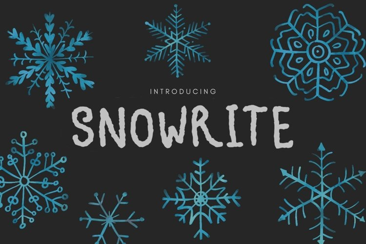 Snowrite Snow-like Font example image 1