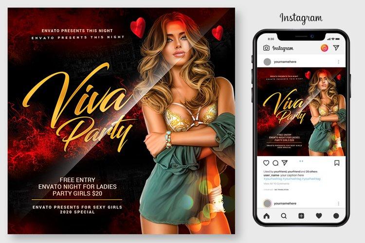 Viva Ladies Night Club Party Flyer example image 1