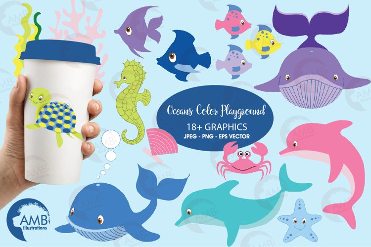 Oceans Color Playground cliparts, Sea cliparts AMB-458