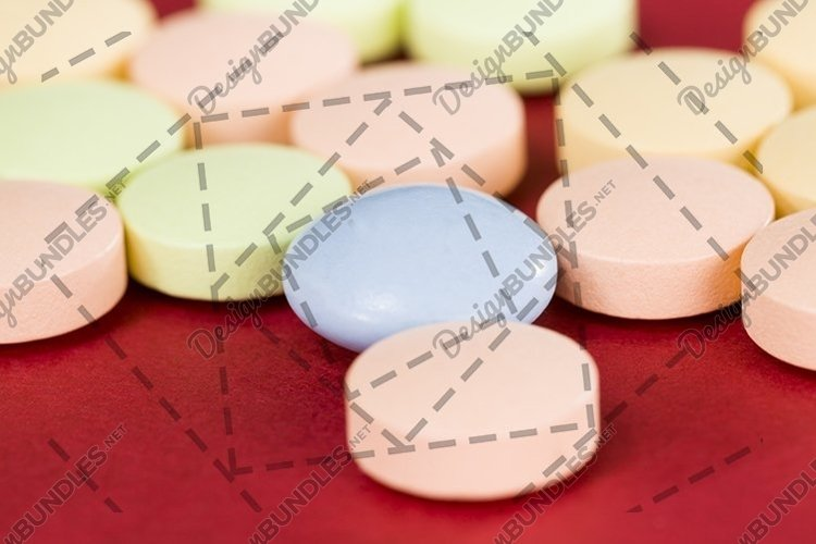 multi-colored pills example image 1
