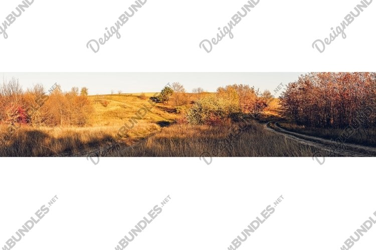 Beautiful autumn countryside landscape example image 1