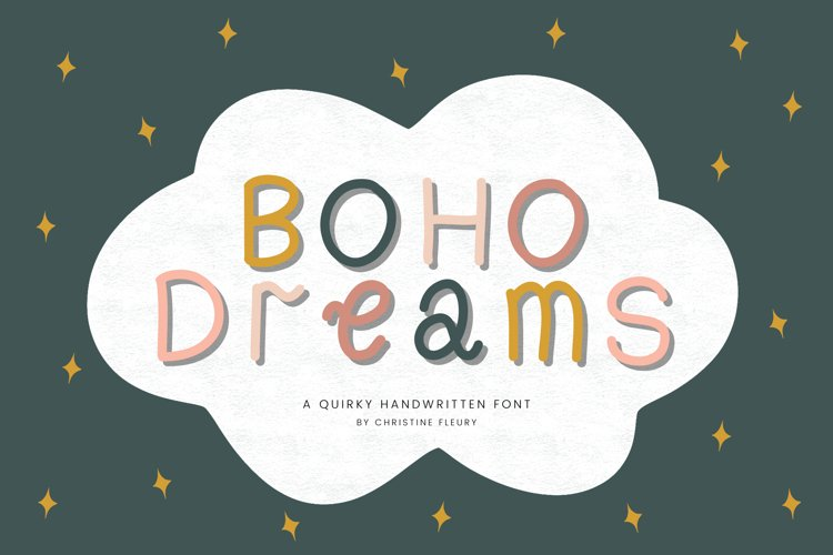 Boho Dreams - A quirky handwritten font example image 1