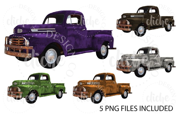 Vintage Halloween Truck Sublimation Design Bundle