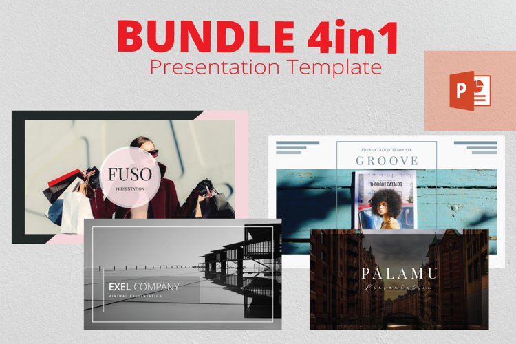 4in1 Bundle Powerpoint Template example image 1