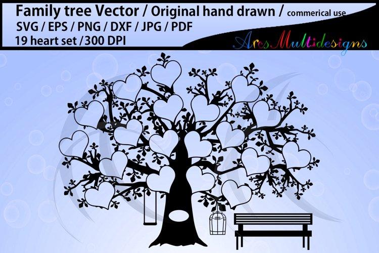 19 spots family tree / 19 heart family tree template example image 1
