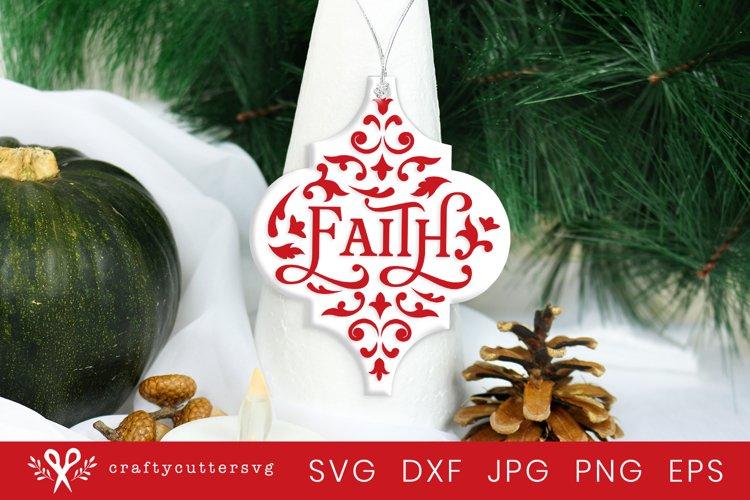 Christmas Arabesque Tile fOrnament Svg  Faith Svg Cut File example image 1