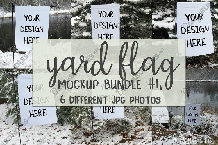 Yard Flag Mockup Bundle #4 - for Winter