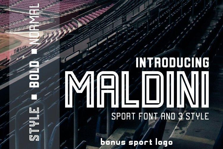 MALDINI - 3 STYLE & VECTOR LOGO example image 1