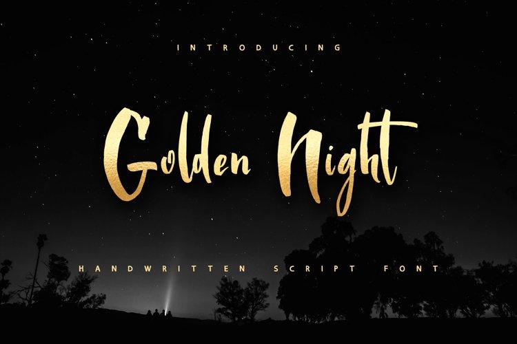 Golden Night script font example image 1