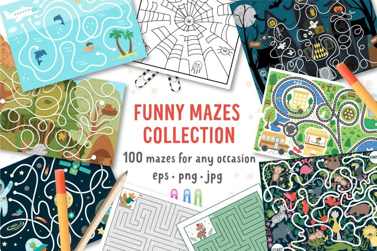 Download Funny Mazes Collection 904762 Educational Design Bundles