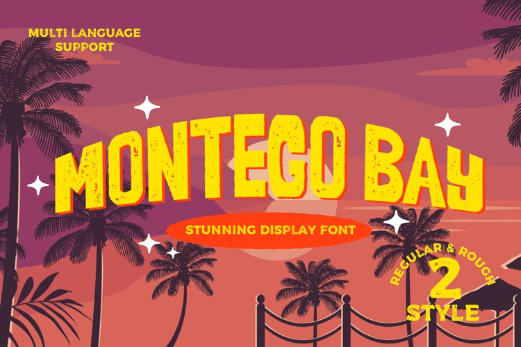 Montego Bay a Stunning Display Typeface Font example image 1