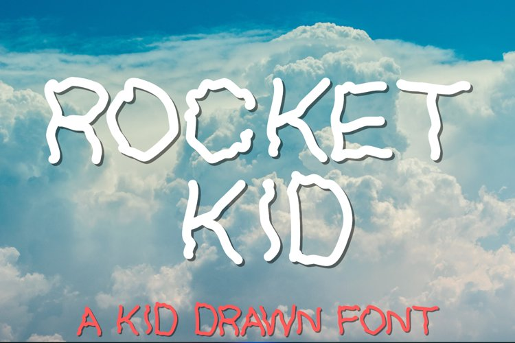 Rocket Kid | An All Caps Kid Drawn Font example image 1