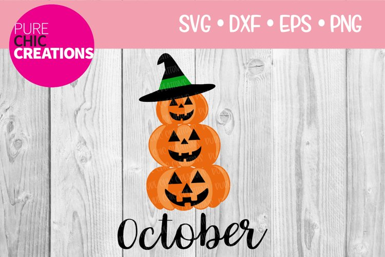Fall SVG October Fall Month SVG SVG DXF PNG EPS Halloween example image 1