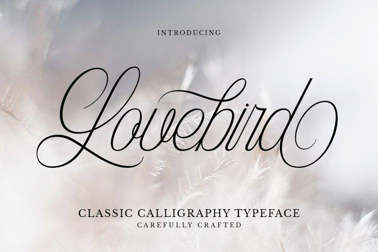 Web Font Lovebird example image 1