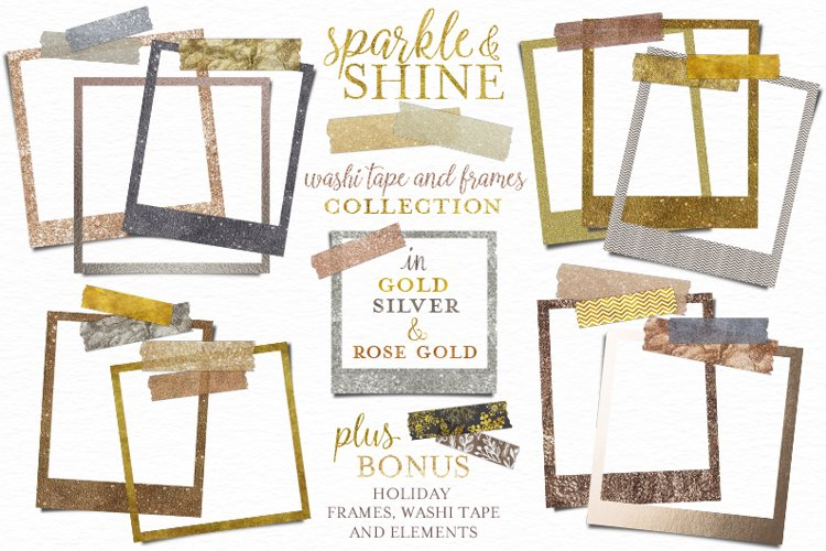 Glitter Washi Tape and Frames example image 1
