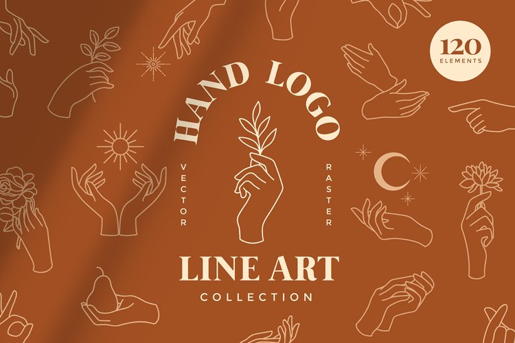 Hand Logo Line Illustrations
