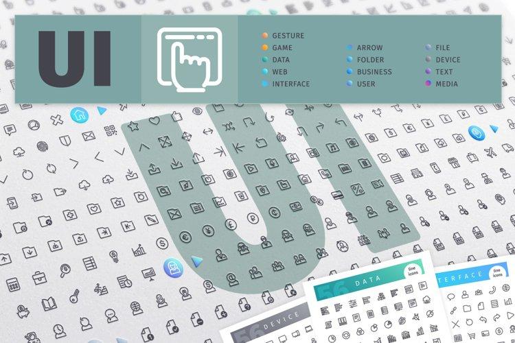 UI 700 Line Icons Bundle example image 1