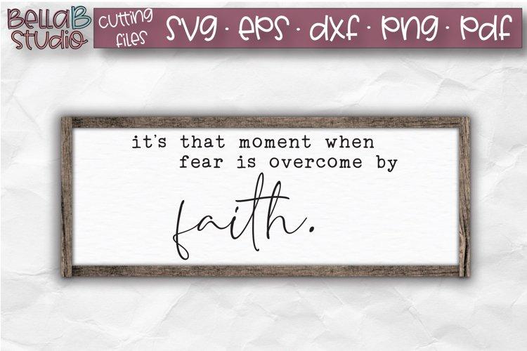 Faith SVG, Faith Over Fear SVG File, Wood Sign Cut File example image 1