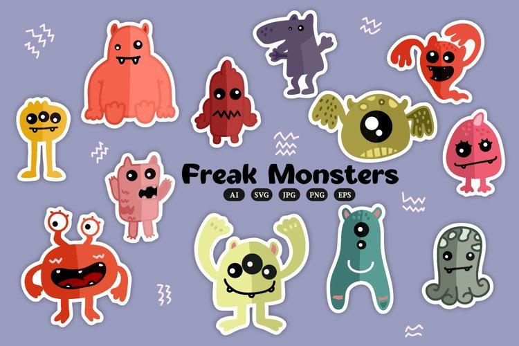 Freak Monster illustrations