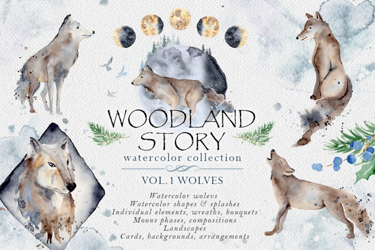 Woodland story Vol.1 Wolf example image 1