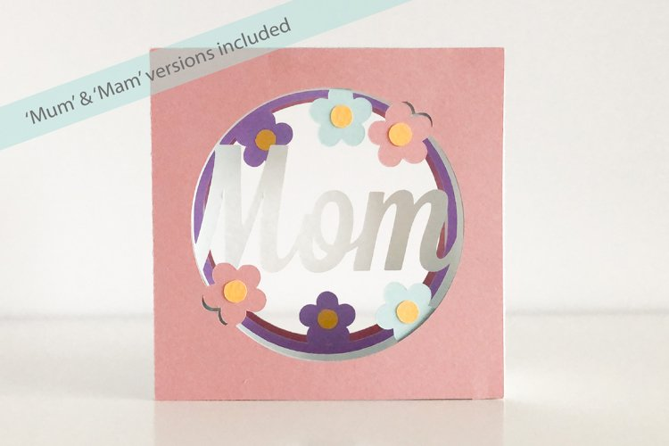 Mothers Day Shadow Box Tunnel Card, Cricut Joy Compatible