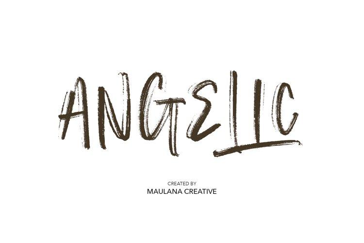Angelic SVG Brush Font example image 1