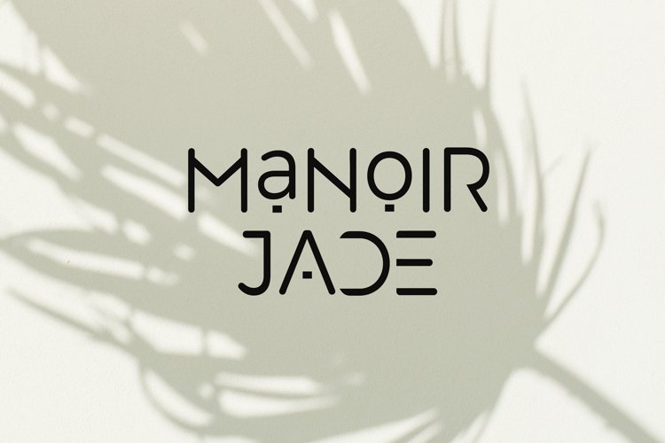 Manoir Jade. Sans Serif Font example image 1