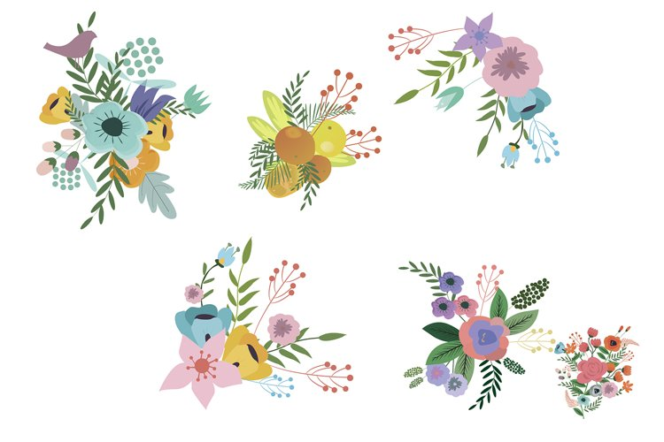 Floral Vector Sets example image 1