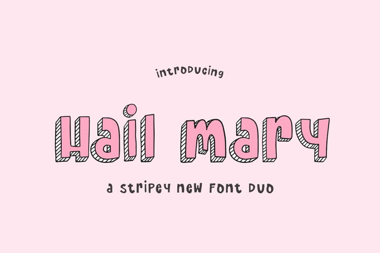 Hail Mary Font Duo example image 1