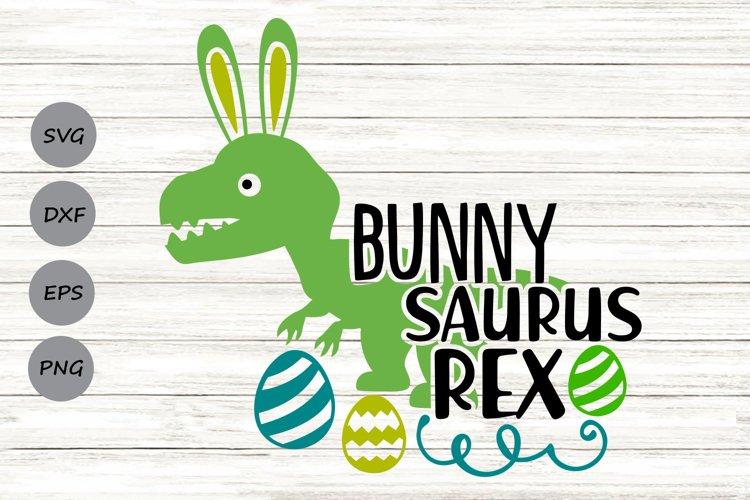 Bunnysaurus Rex Svg, Easter Svg, Easter Dinosaur Svg. example image 1