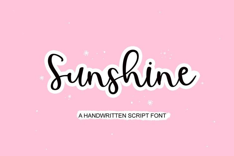 sunshine - handwritten script font example image 1