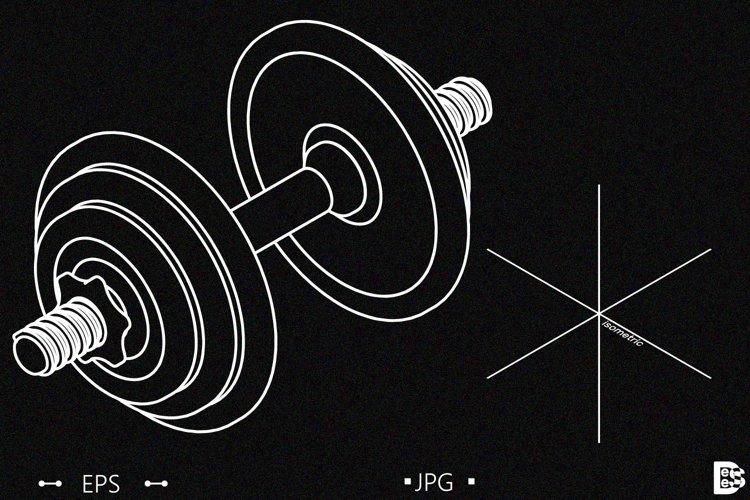 Dumbbell. Vector illustration.