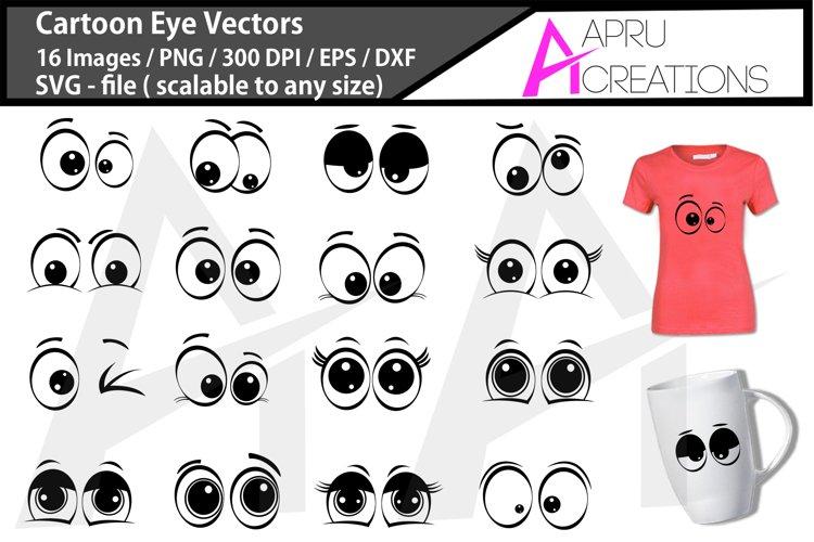 Cartoon eyes bundle / cartoon eye illustrations