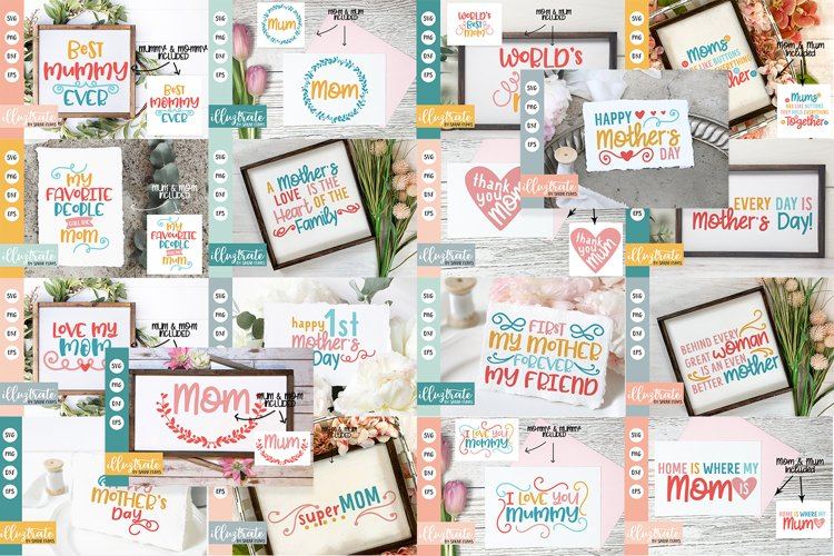 Mothers Day SVG Bundle   Mothers Day SVG Cut Files   Mum