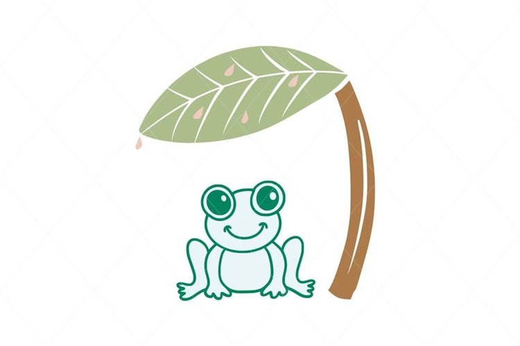 Green Frog SVG Digital File Clipart Instant Download example image 1