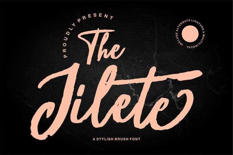 The Jilete - A Stylish Brush Font example image 1