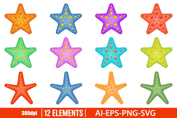 Sea starfish clipart vector design illustration