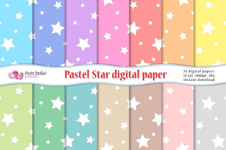 Pastel Star digital paper