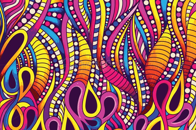 Pearls and Drops Colorful Vector Background example image 1
