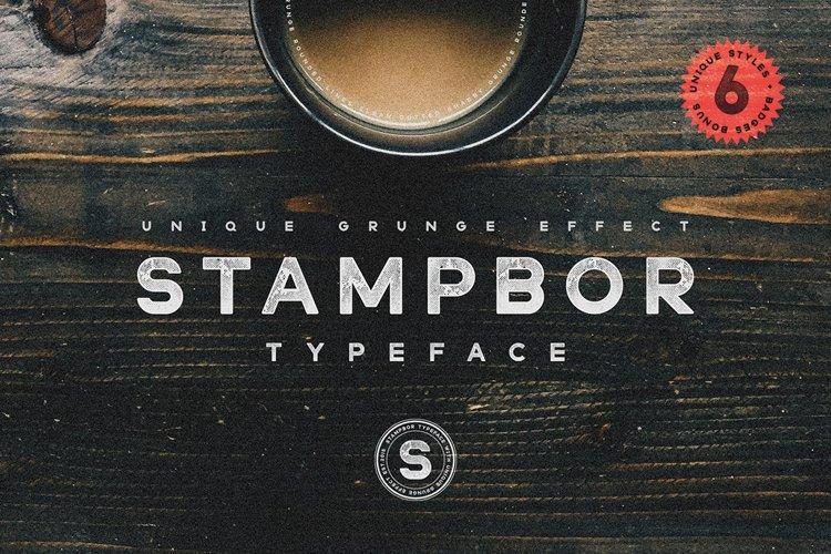 Stampbor Typeface