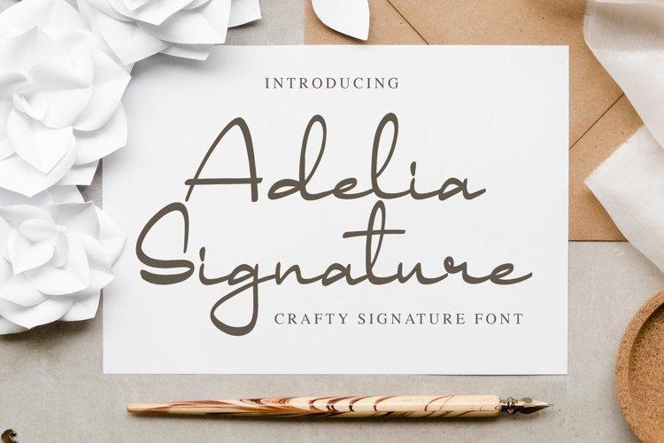 Adelia Signature - Crafty Signature Font example image 1