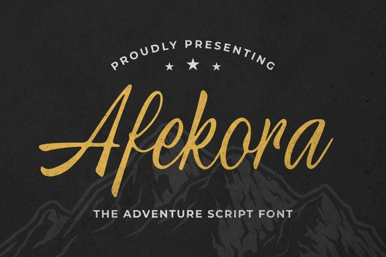 Web Font Afekora example image 1