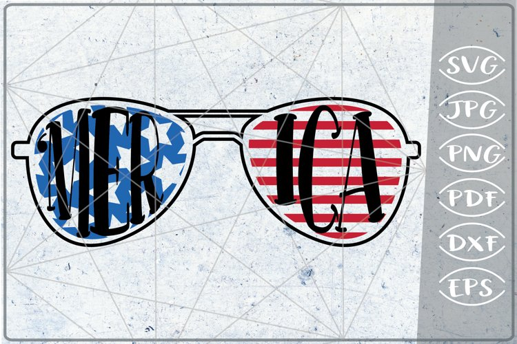 'Merica SVG 4th of July Independence Day Crafters Patriotic example image 1