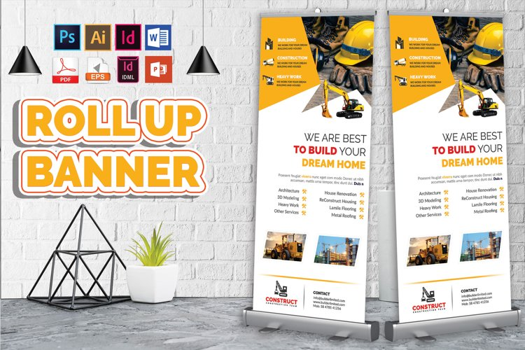 Construction Roll Up Banner Vol-05