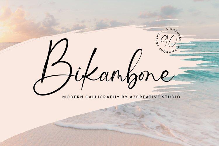 Bikambone - Beautiful Calligraphy Font example image 1