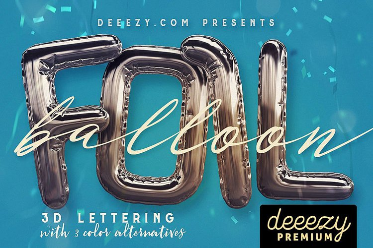 Foil Balloon - 3D Lettering example image 1
