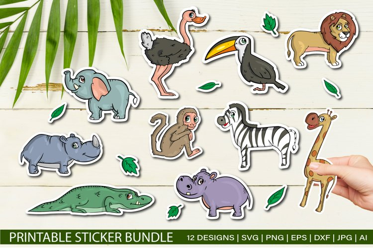 African animals Stickers Bundle for Cricut SVG EPS JPG
