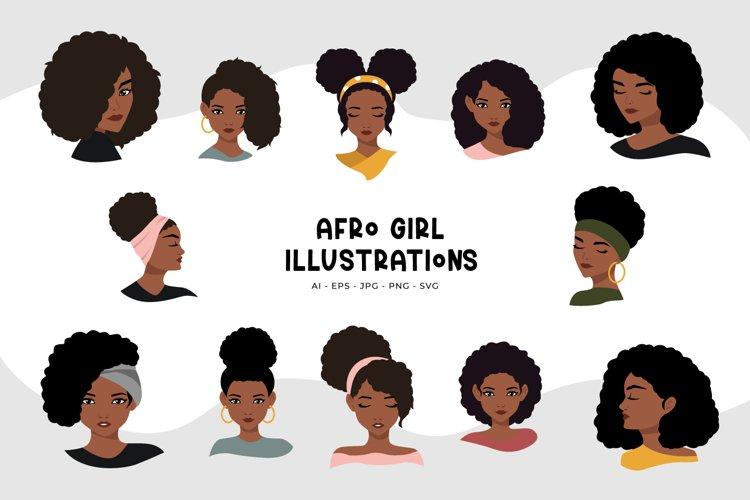 Afro Girl Illustrations