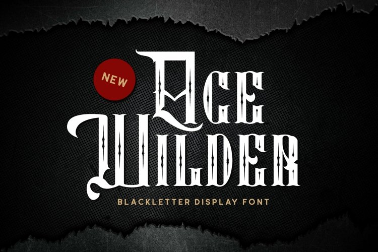 Age Wilder Font example image 1